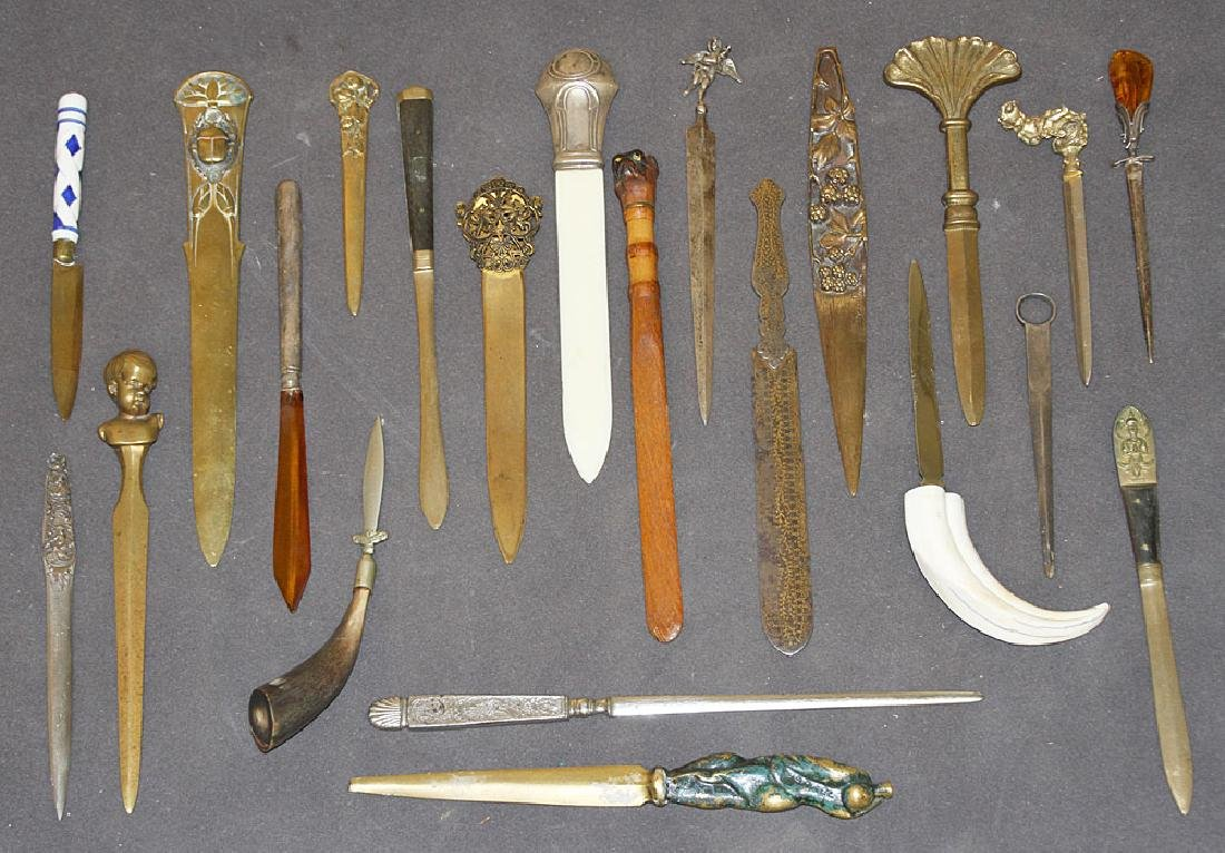 Collection of Twenty-two Letter Openers