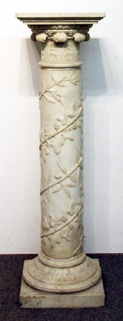 Carved Marble Pedestal
