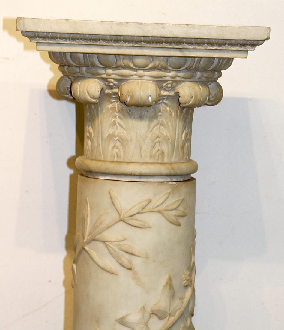 Carved Marble Pedestal - 2