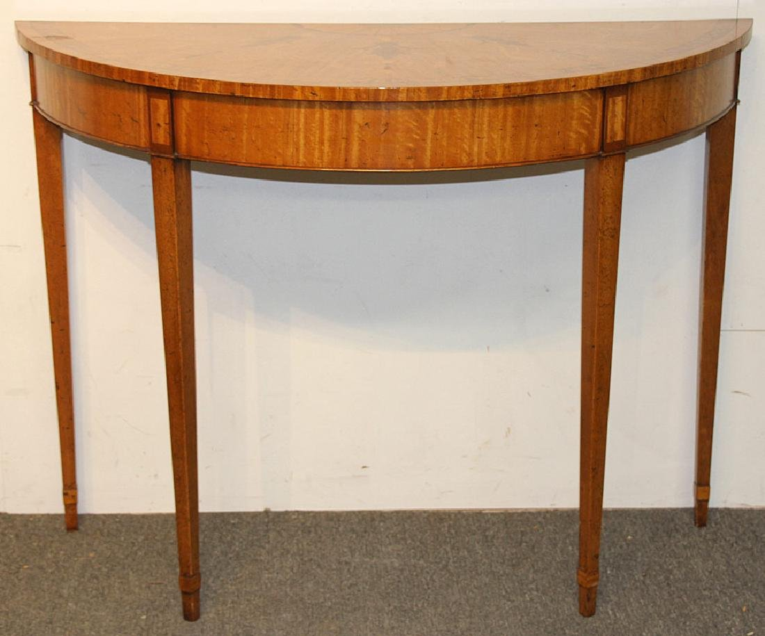 Federal-style Inlaid Mahogany Demilune Console