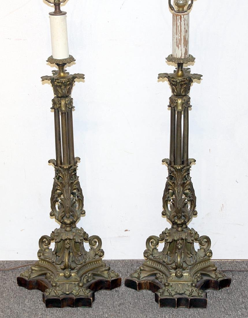Pair of French Bronze Table Lamps