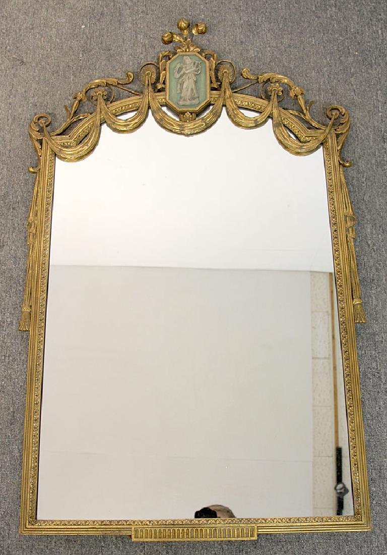 Neoclassical-style Parcel Gilt Mirror