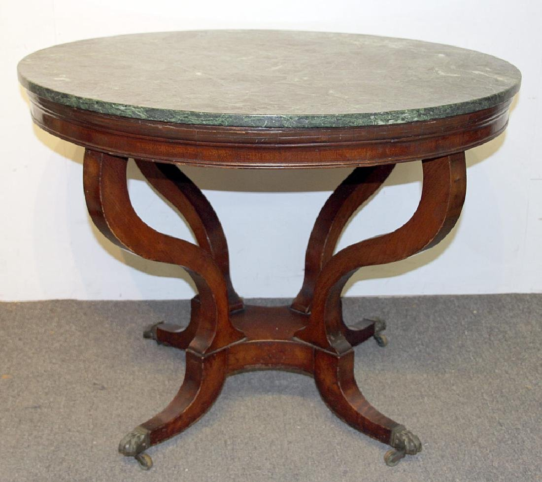 Regency Marble-top Center Table