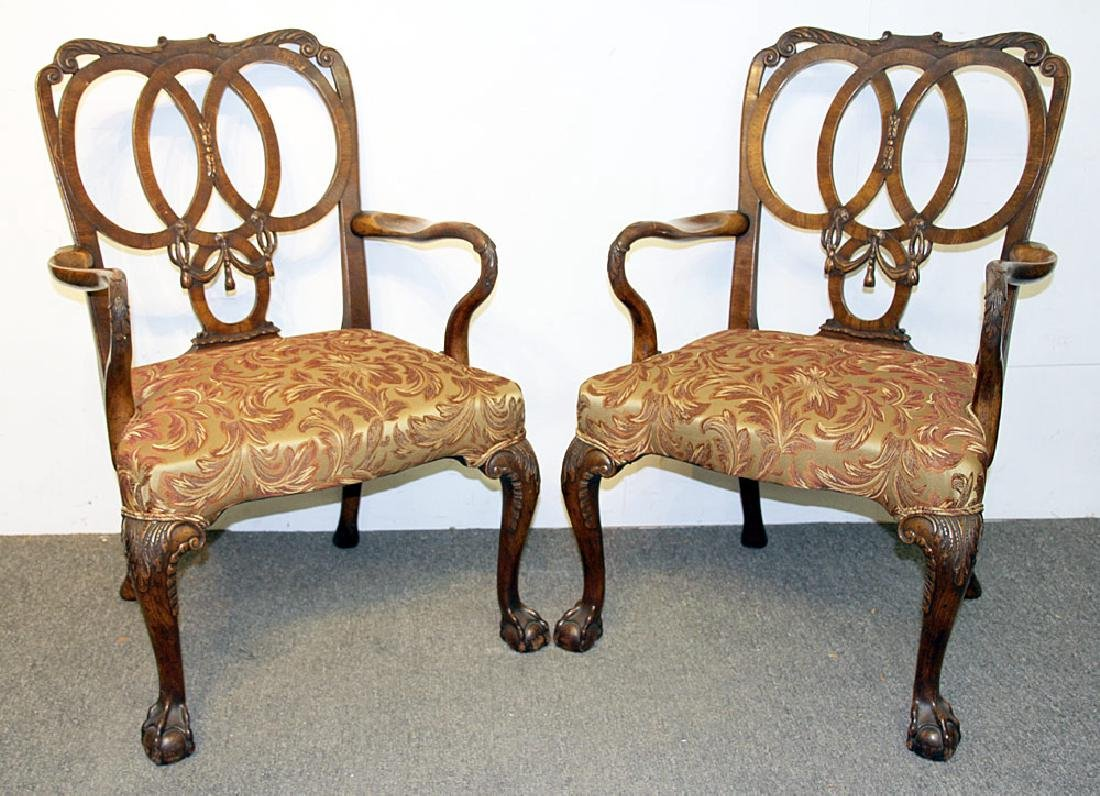 Pair of Georgian Mahogany Armchairs