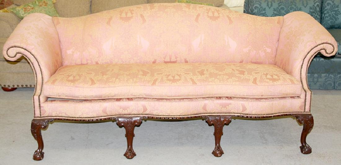 Baker Chippendale-style Sofa