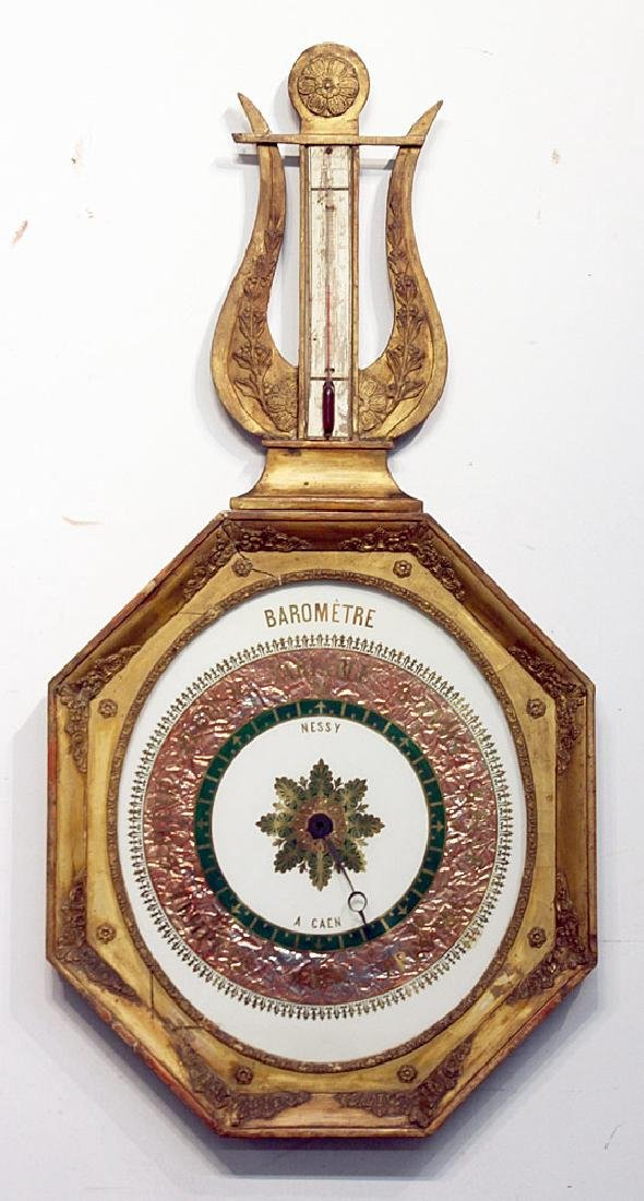 French Gilt Wood Barometer