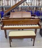 Steinway & Sons Walnut Model M Baby-grand Piano