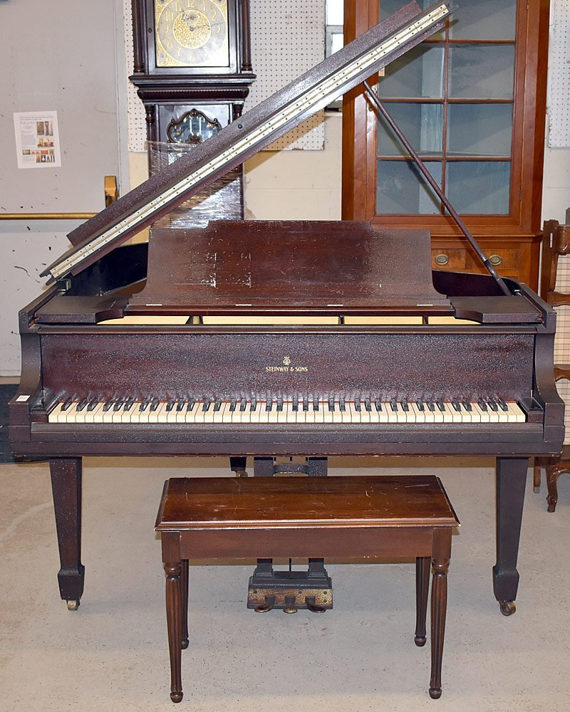 Steinway &Sons Mahogany Model M Baby Grand Piano