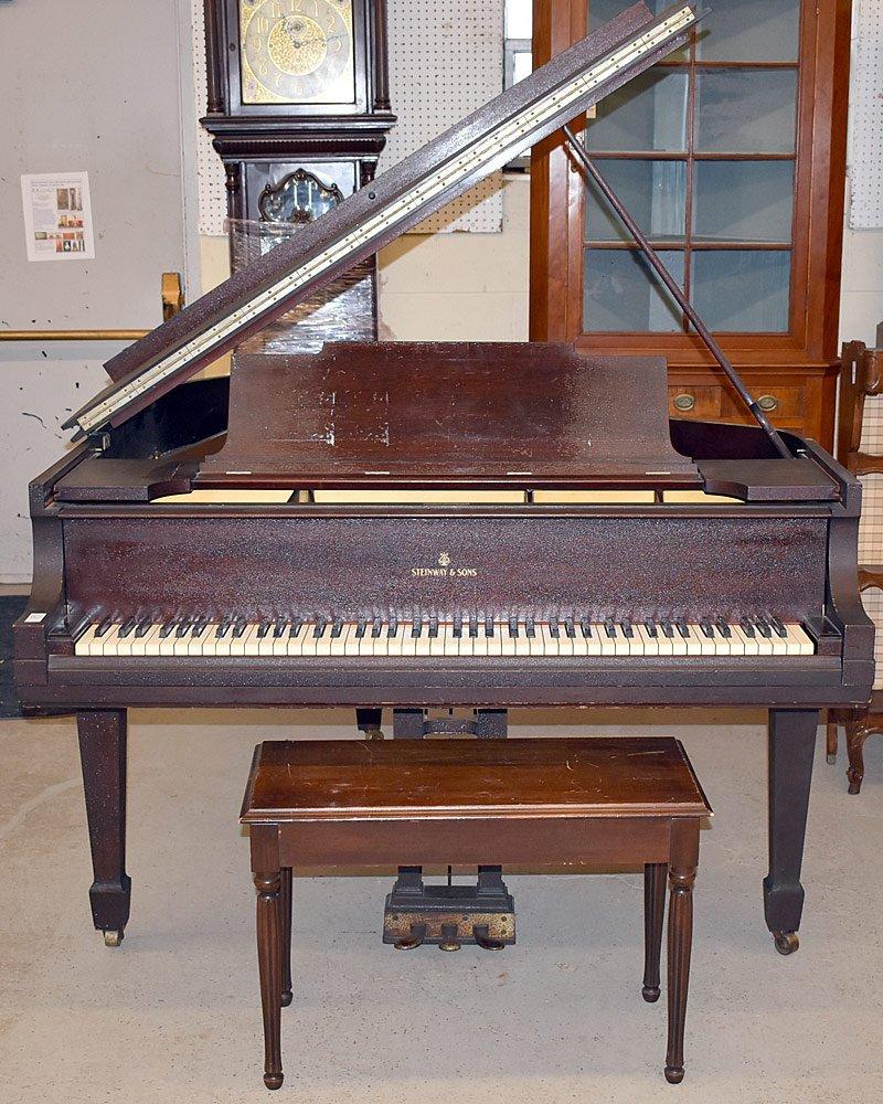 Steinway &Sons Mahogany Model M Baby Grand Piano