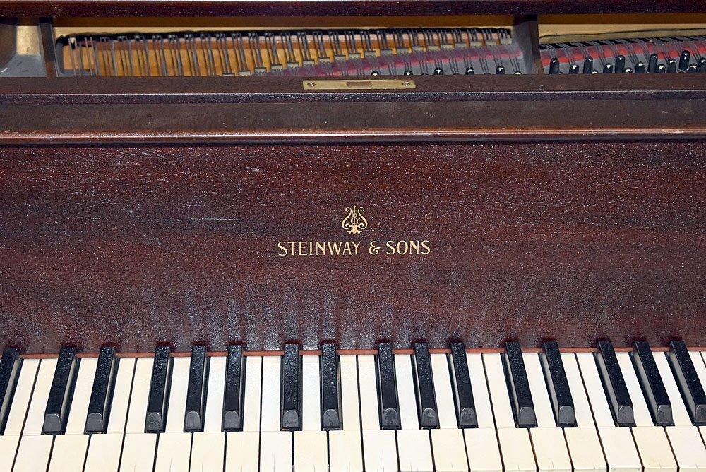 Steinway &Sons Mahogany Model M Baby Grand Piano - 2