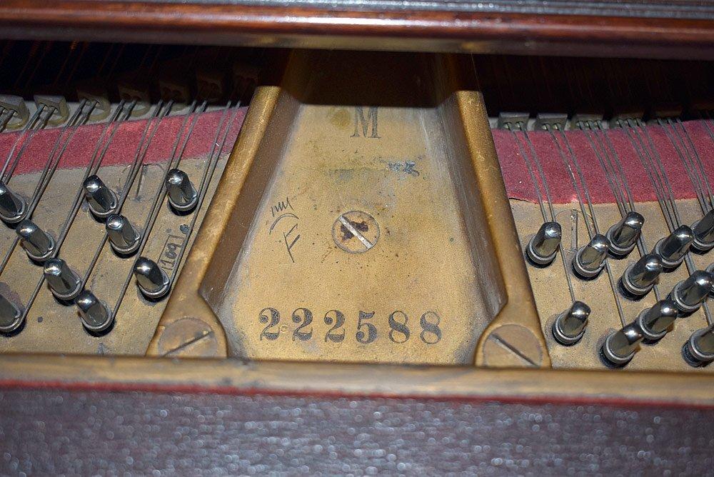 Steinway &Sons Mahogany Model M Baby Grand Piano - 4