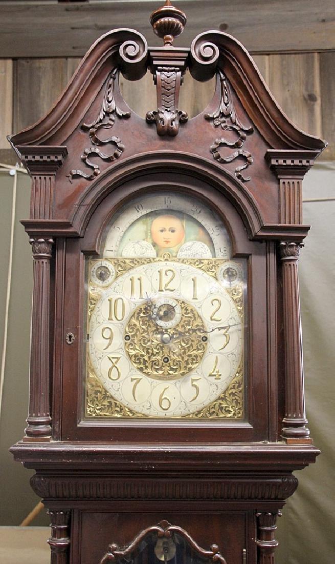 Walter Durfee 9-Tube Mahogany Grandfather Clock - 2