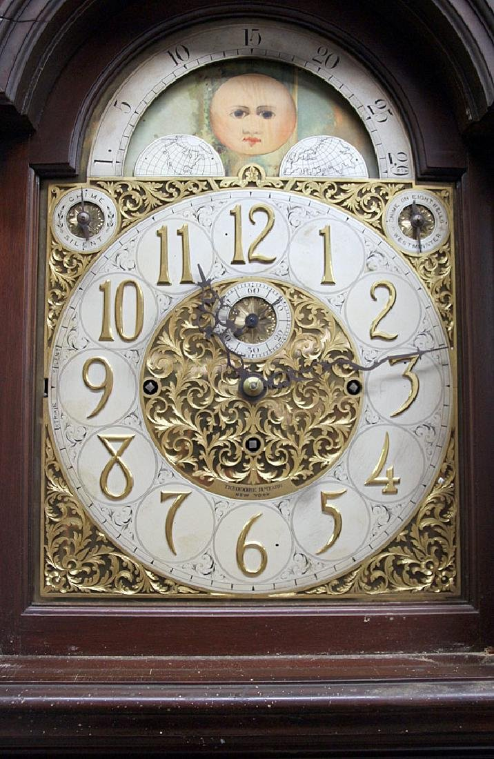 Walter Durfee 9-Tube Mahogany Grandfather Clock - 3