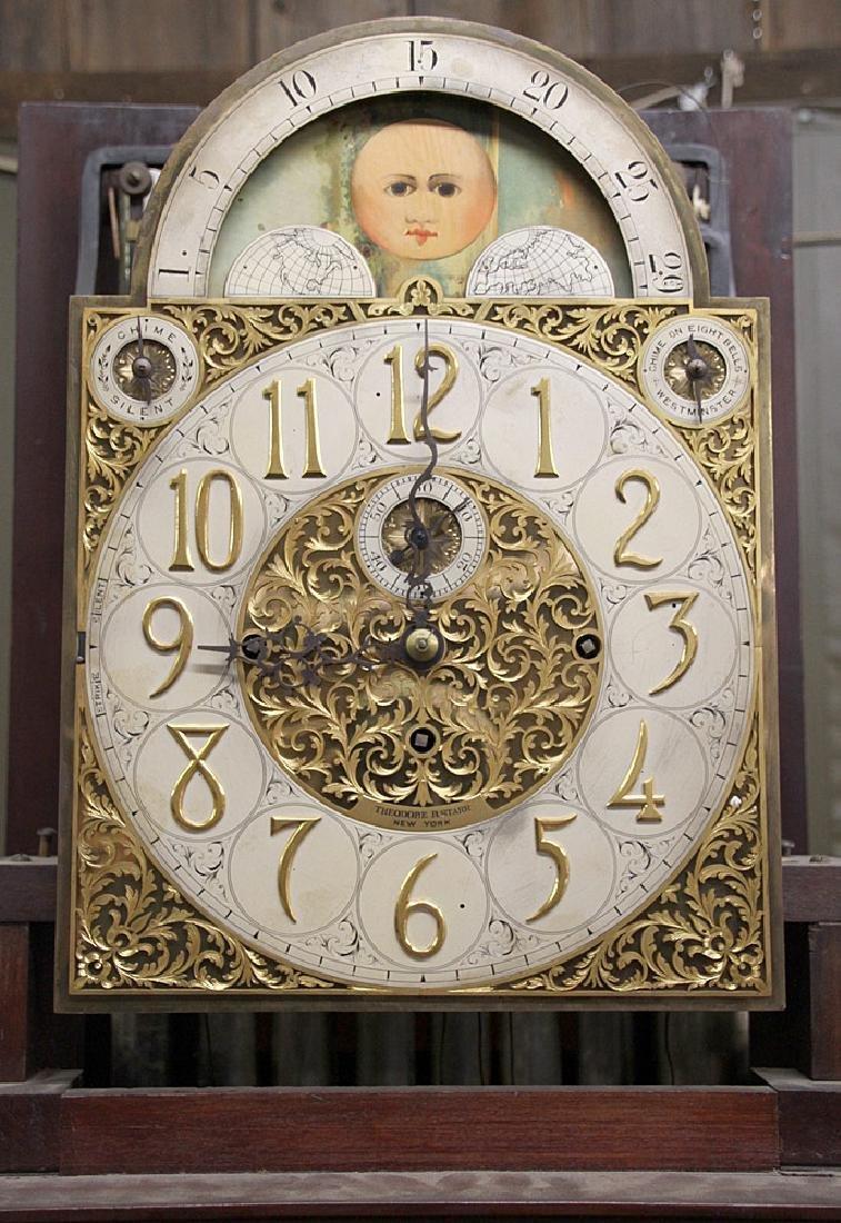 Walter Durfee 9-Tube Mahogany Grandfather Clock - 4