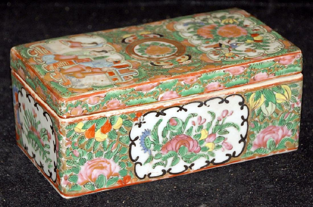 Chinese Export Rose Medallion Divided Box