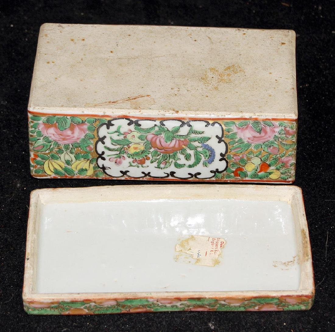 Chinese Export Rose Medallion Divided Box - 3
