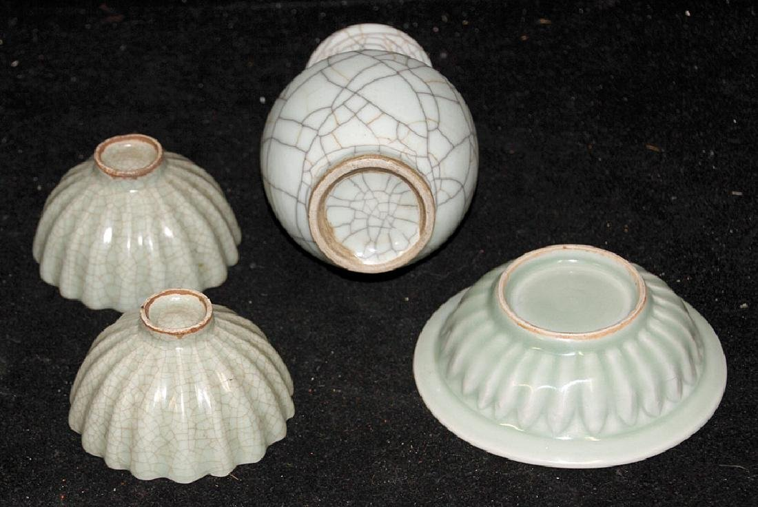 Four Pieces of Chinese Celadon Porcelain - 2