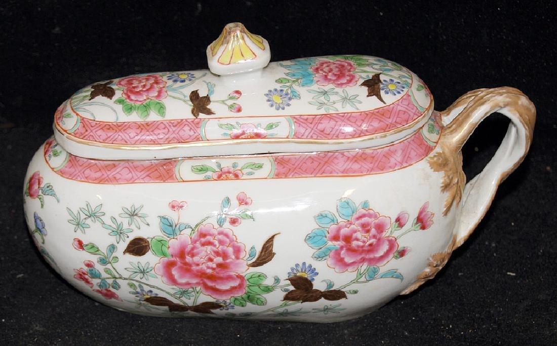Chinese Famille Rose Porcelain Bourdaloue - 2