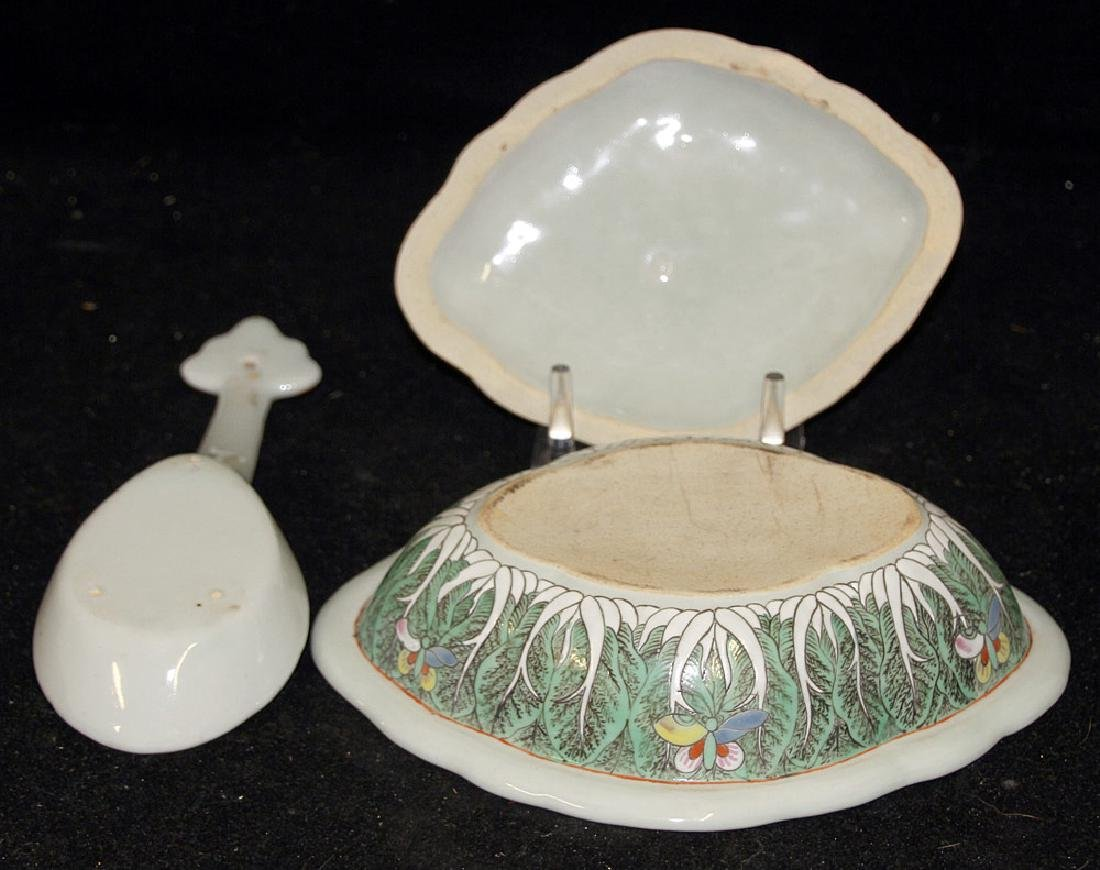 2 Pcs. of Chinese Export Cabbage Leaf Porcelain - 3