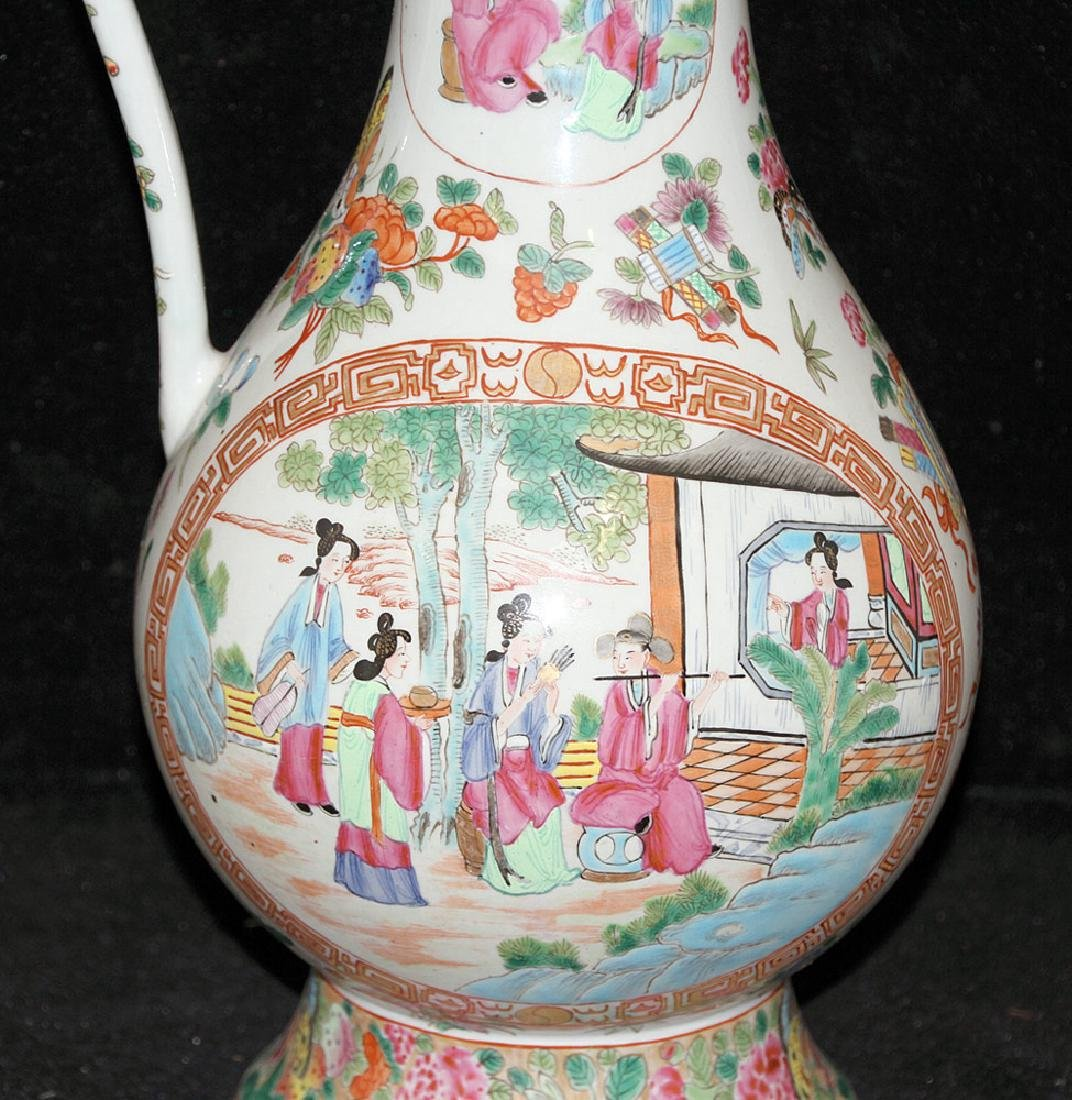 Chinese Export Porcelain Rose Medallion Pitcher - 2