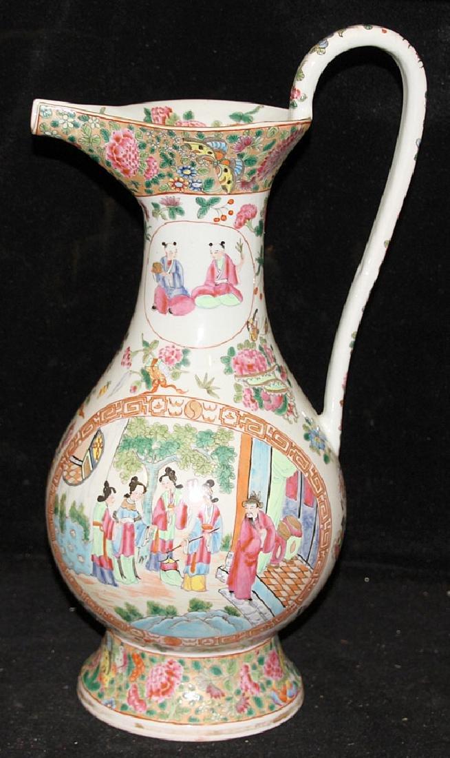 Chinese Export Porcelain Rose Medallion Pitcher - 3