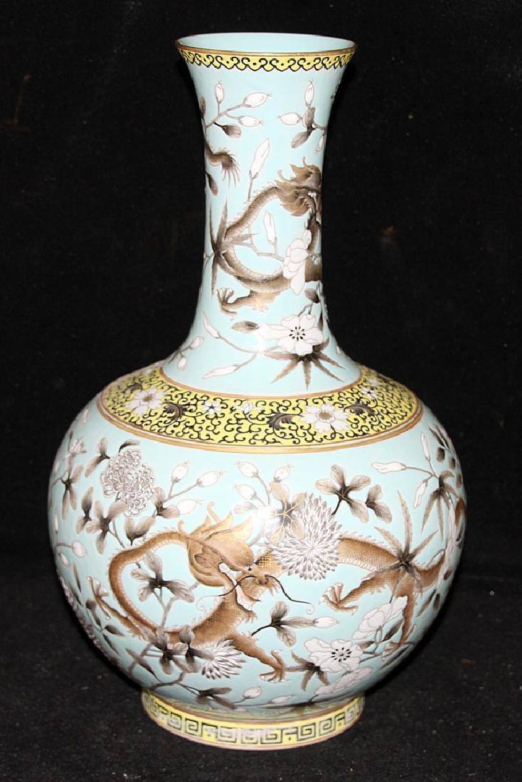 Chinese Porcelain Dragon Vase