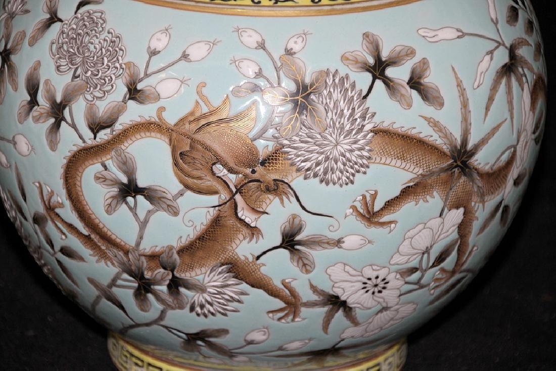 Chinese Porcelain Dragon Vase - 2