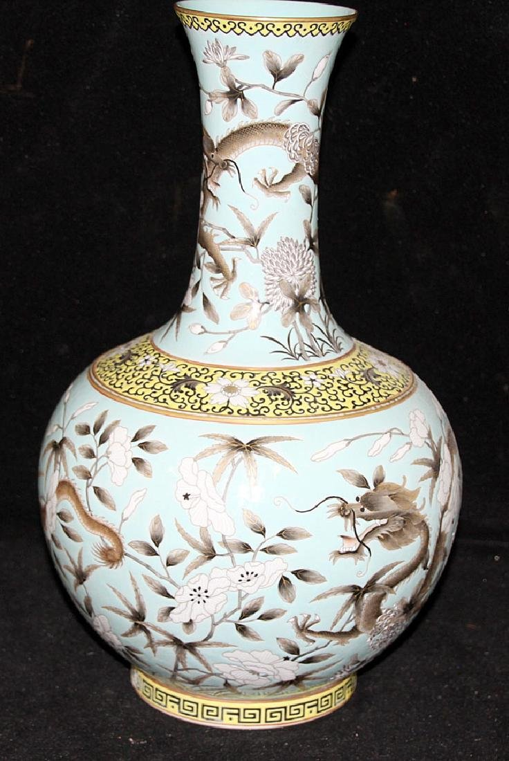 Chinese Porcelain Dragon Vase - 3