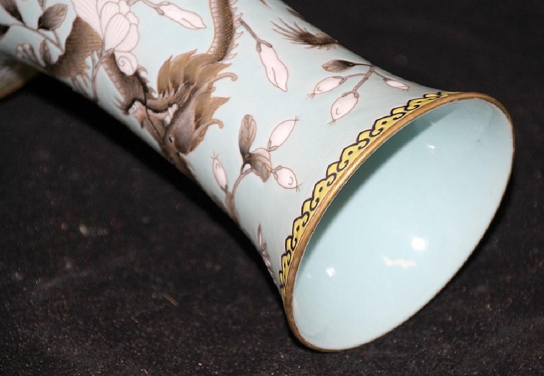 Chinese Porcelain Dragon Vase - 4