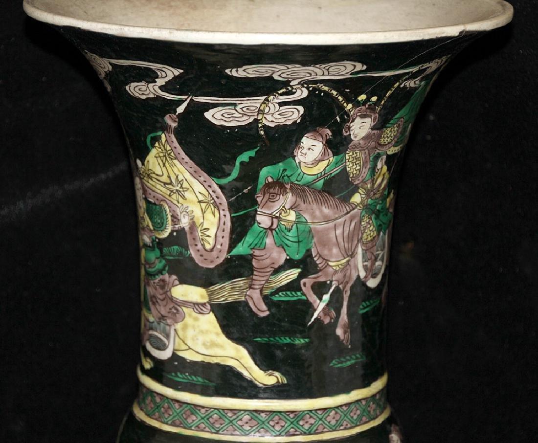 Chinese Famille Noir Porcelain Vase - 2