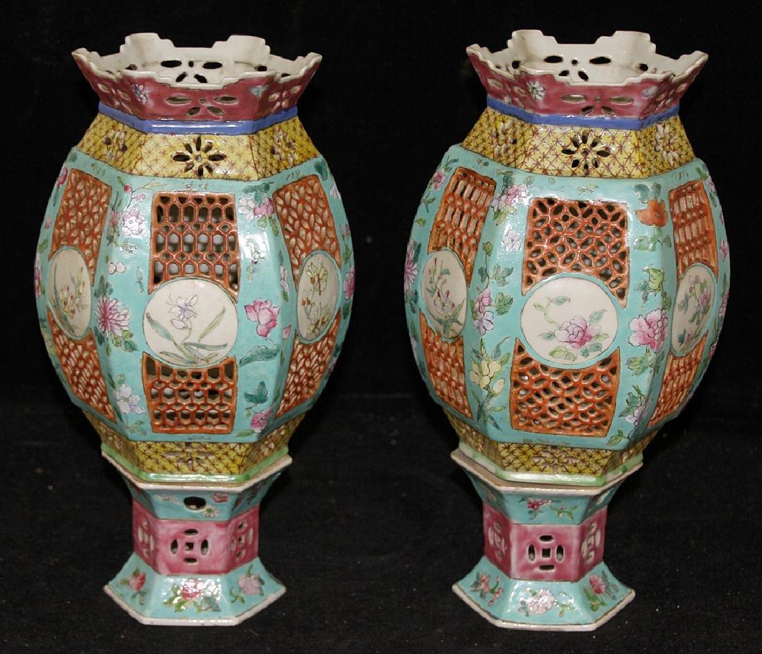 Pair of Chinese Porcelain Lanterns - 2