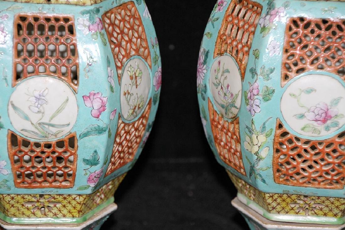 Pair of Chinese Porcelain Lanterns - 3