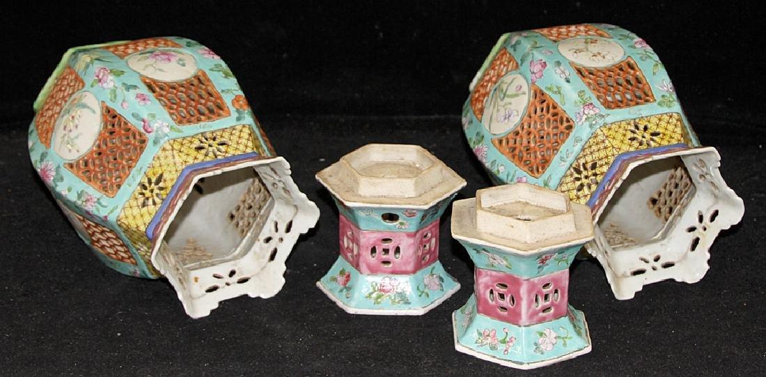 Pair of Chinese Porcelain Lanterns - 4