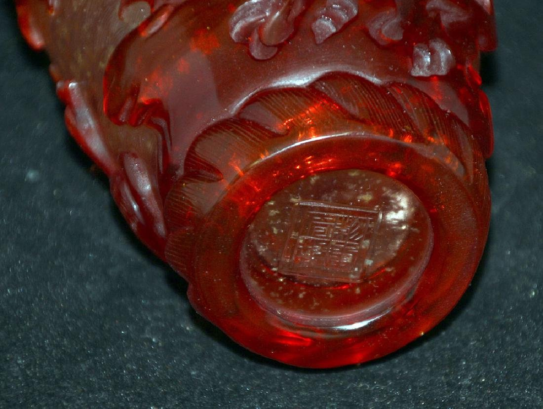 Peking Glass Vase with Blossoming Trees - 3