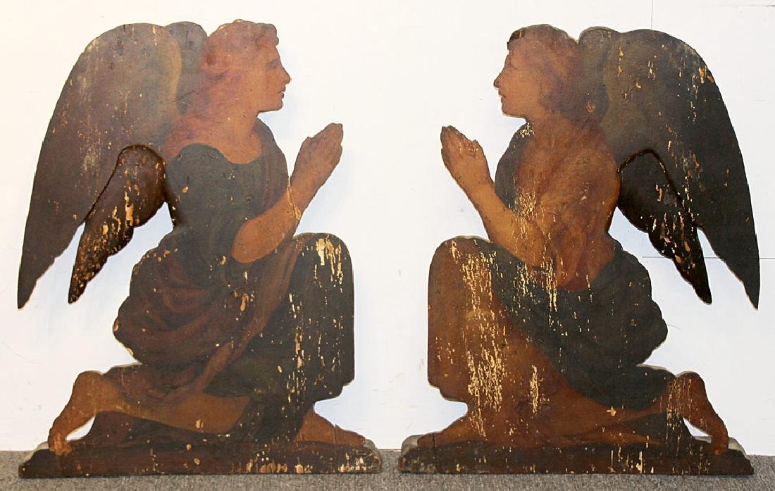 Pair of Italian Painted Altarpiece Elements