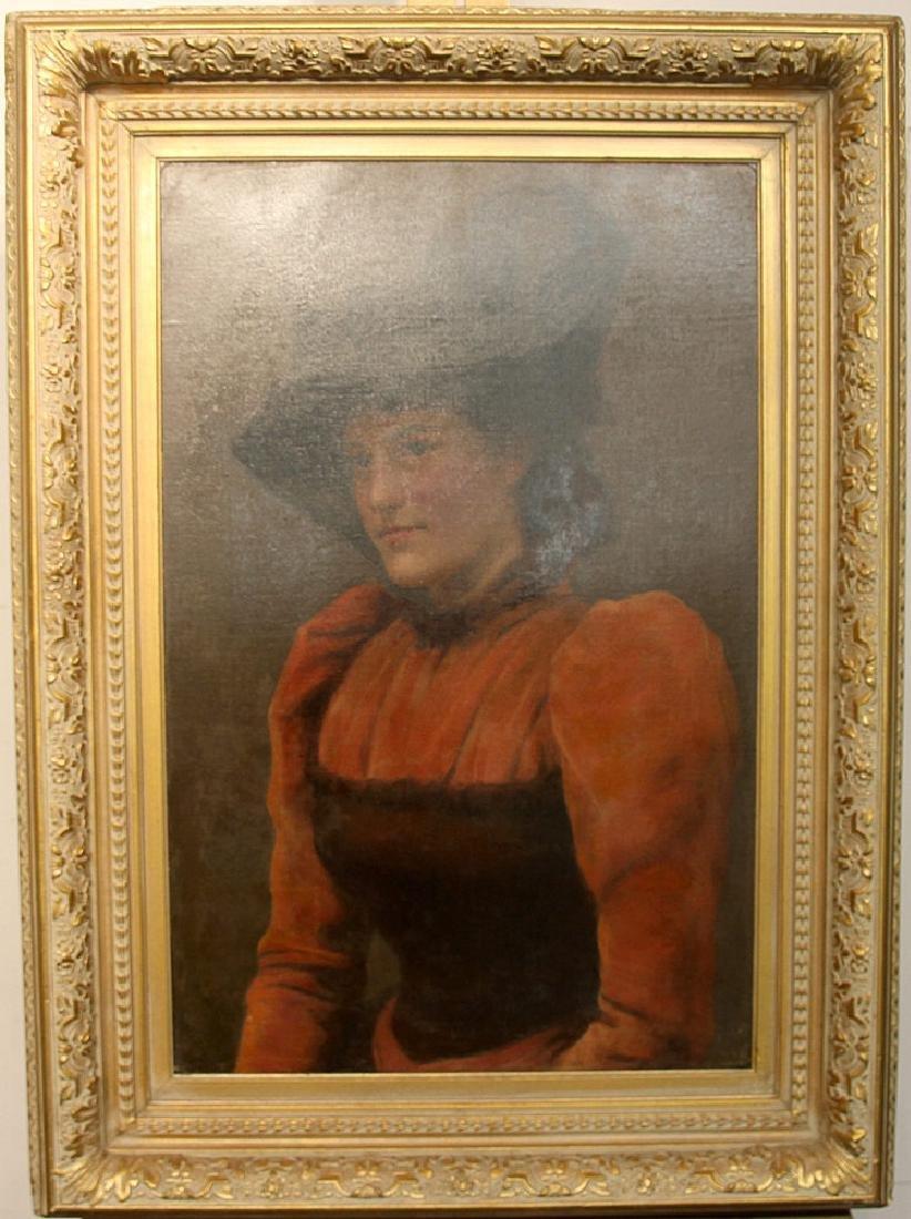 Frank Markham Skipworth Oil on Canvas, Portrait