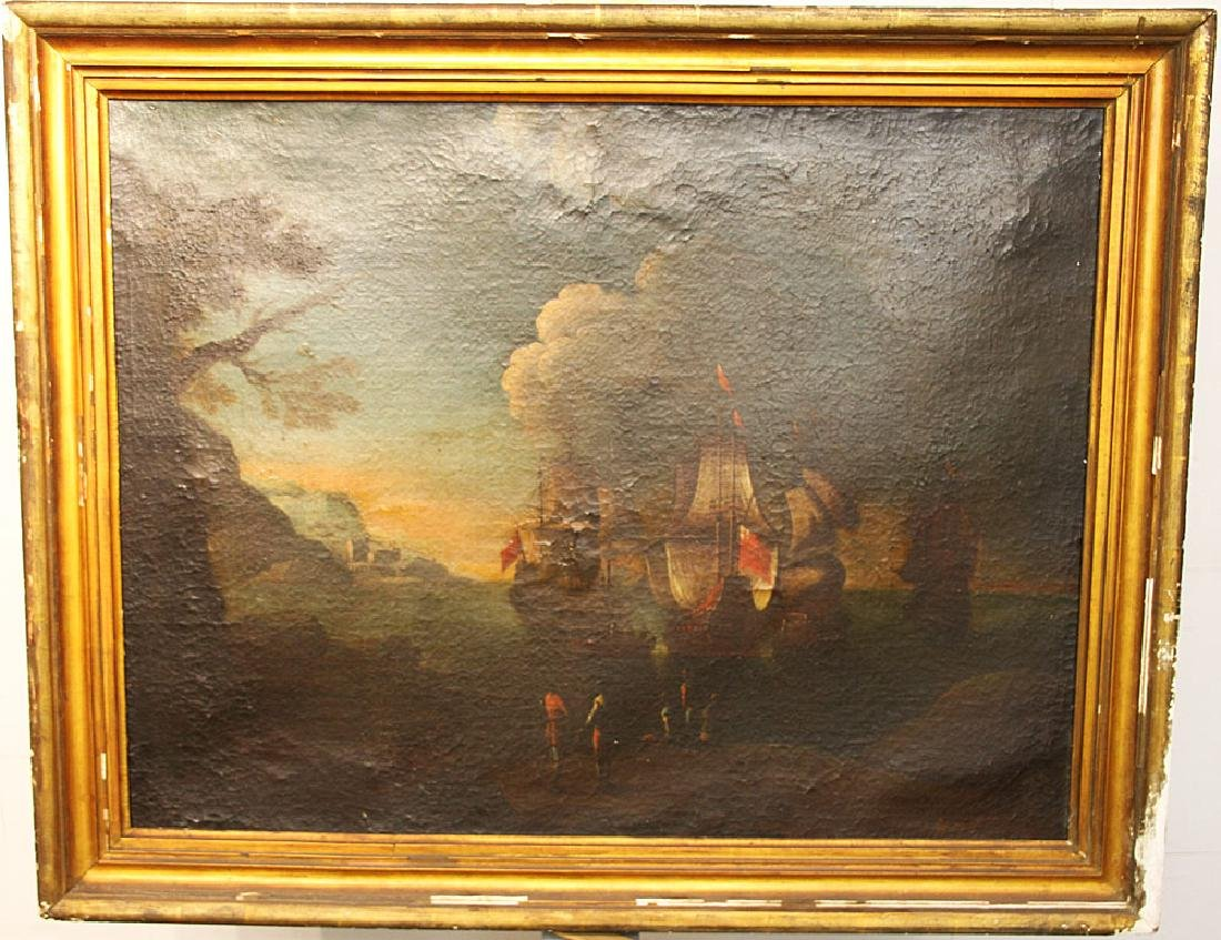 Oil on Canvas, Nautical Scene