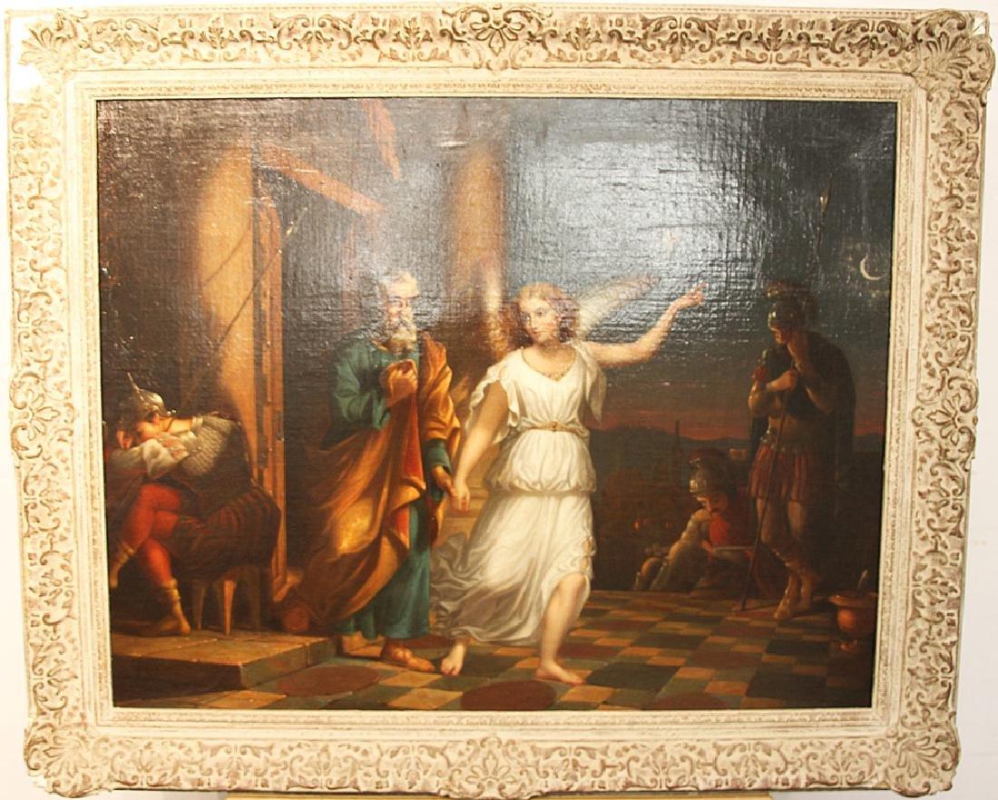 Continental School Oil on Canvas, Classical Scene