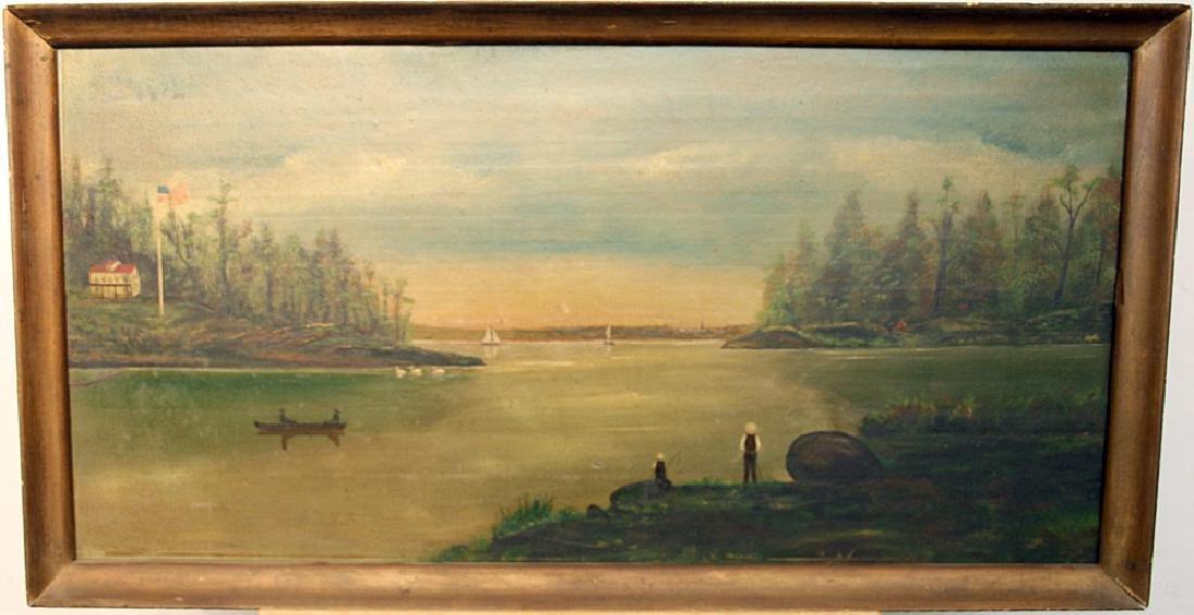 American School Oil on Panel, Landscape