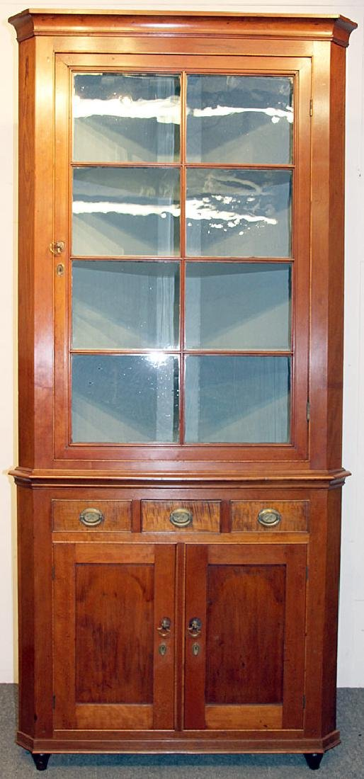Federal Mixed-Wood Corner Cupboard