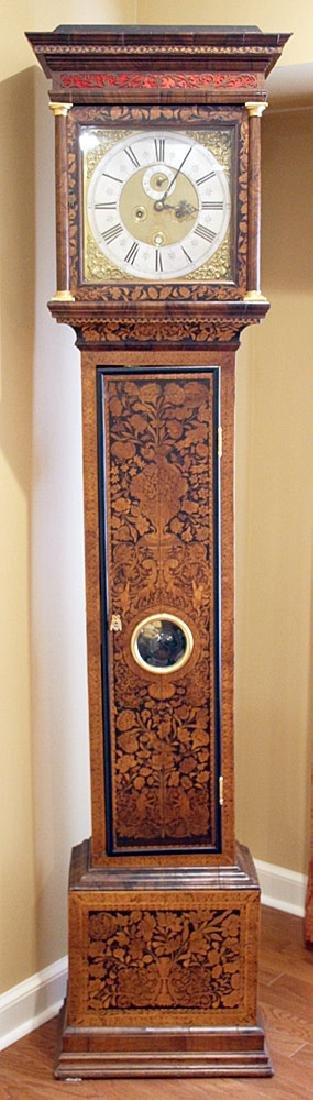 Daniel Quare Queen Anne Marquetry Tall Case Clock