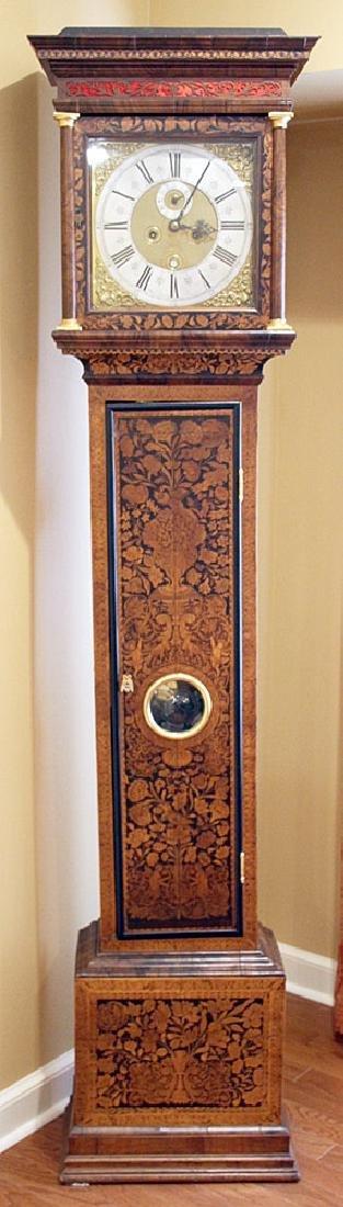 Daniel Quare Queen Anne Marquetry Tall Case Clock