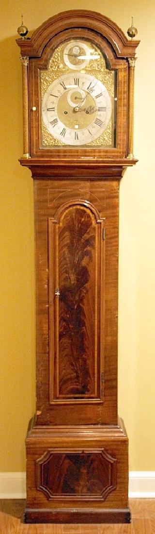 Cornelius Herbert Queen Anne Tall Case Clock