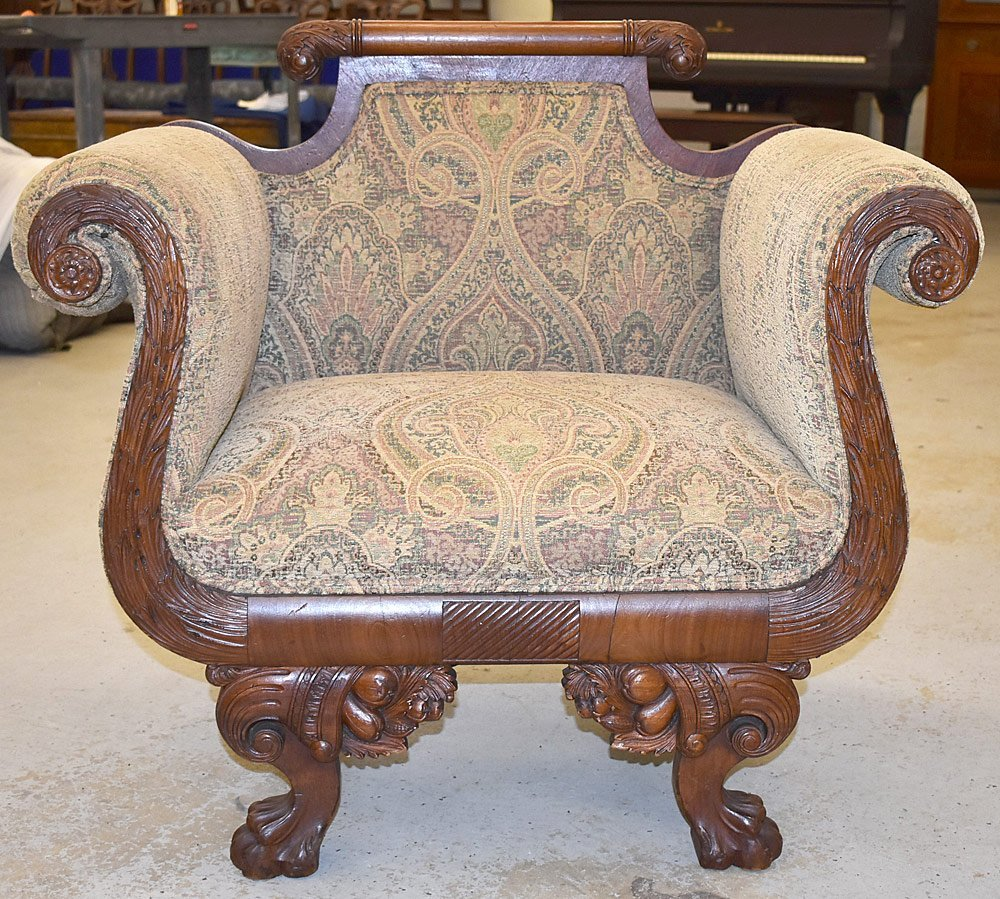 Classical Carved Armchair