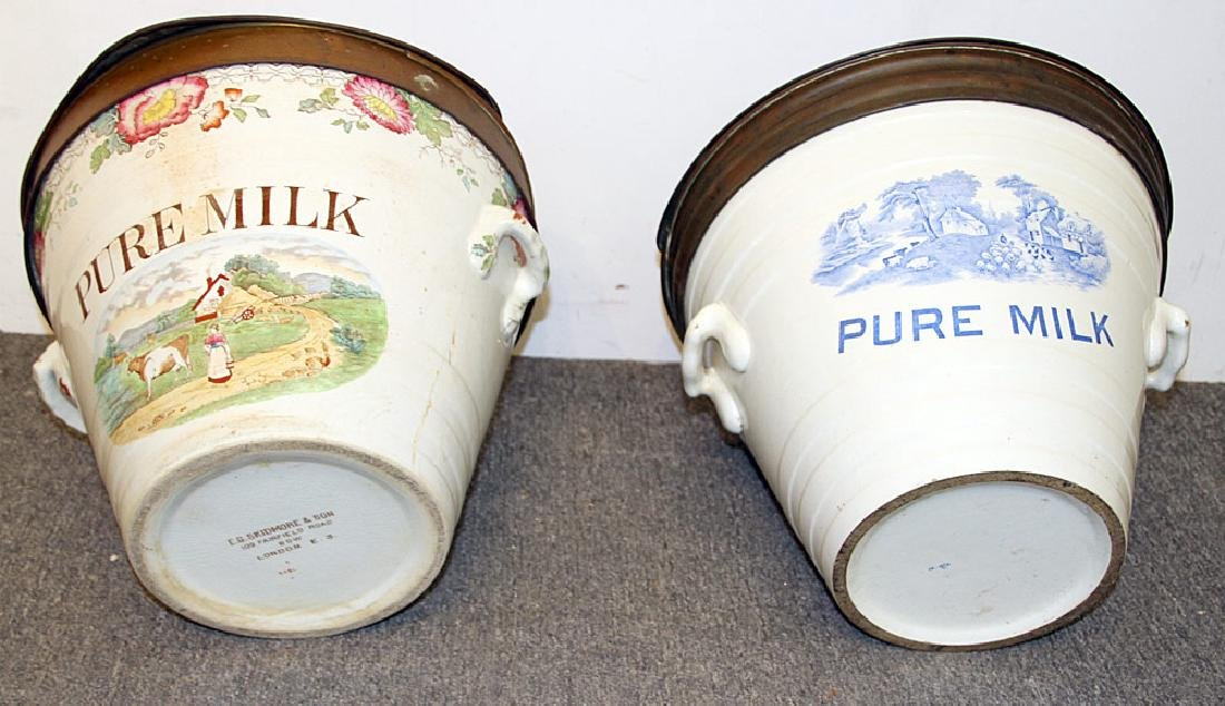 Two English Ironstone Milk Pails - 2