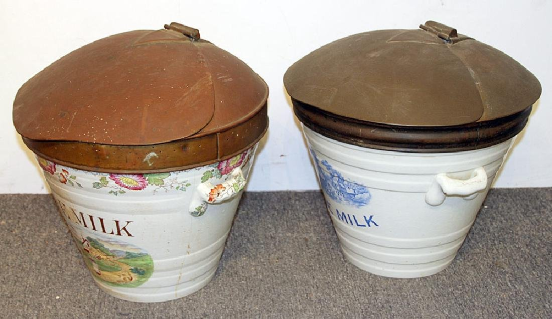 Two English Ironstone Milk Pails - 3