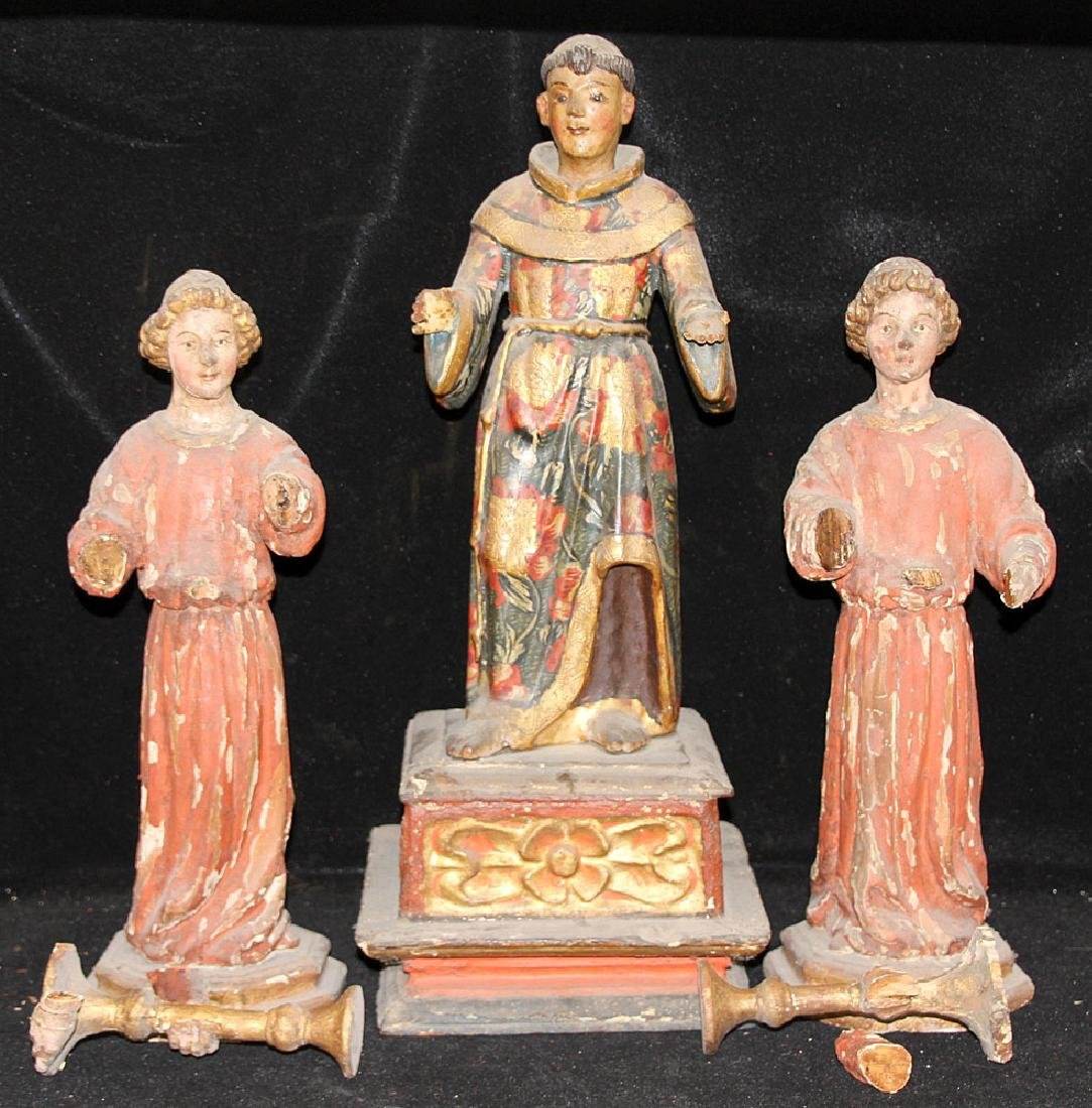 Three Continental Polychrome Figures