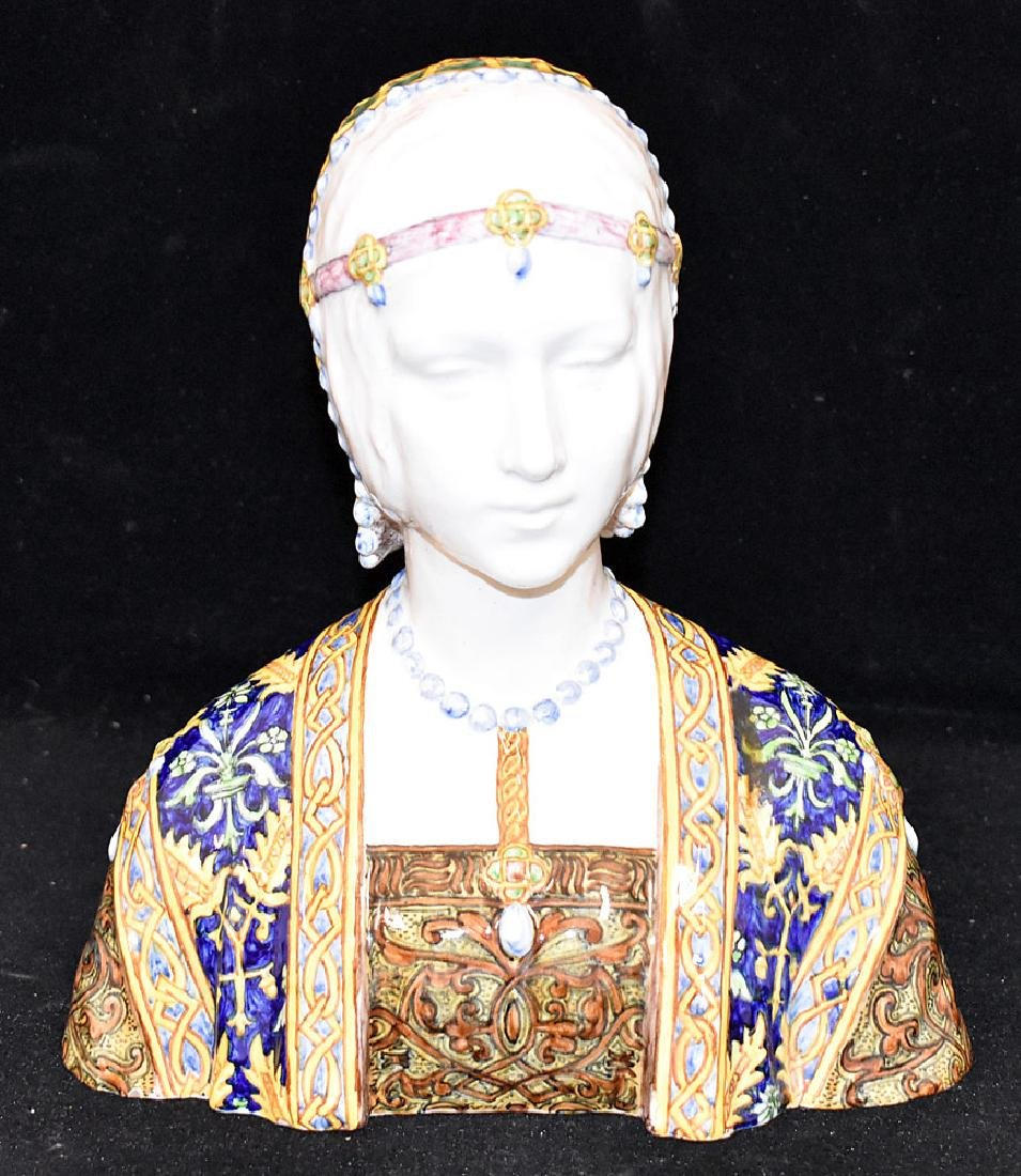 Italian Faience Bust of a Maiden