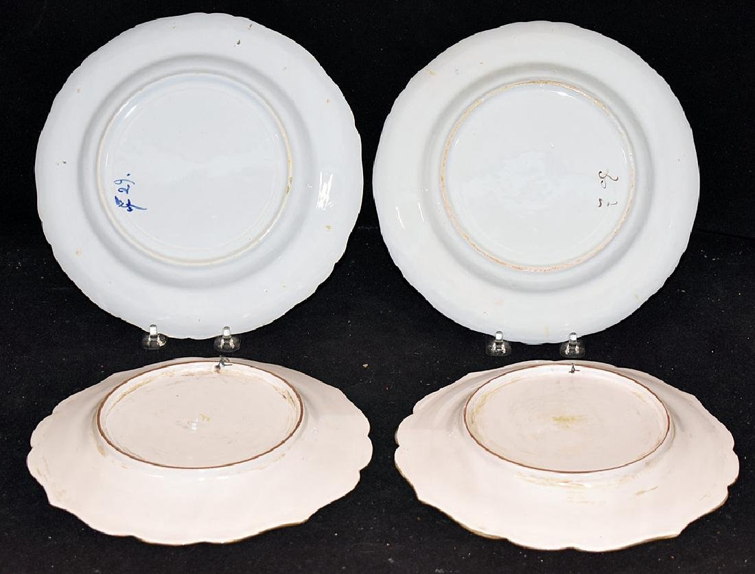 Four Continental Faience Pottery Plates - 2