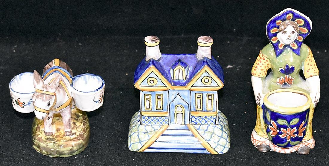Three Pieces of Continental Faience Pottery